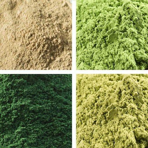 Alfalfa - Barleygrass- Spirulina - Wheatgrass Superfood Selection