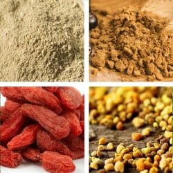 Bee Pollen - Maca - Guarana - Wheatgrass Superfood Selection