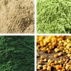 Bee Pollen - Spirulina - Maca - Wheatgrass Superfood Selection