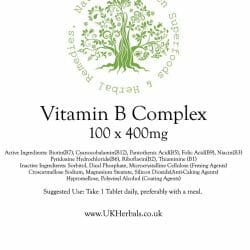 Vitamin B Complex Tablet Product Label