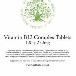 Vitamin B12 Complex Tablet Product Label
